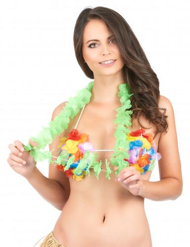 Collana Hawai di colore verde-1