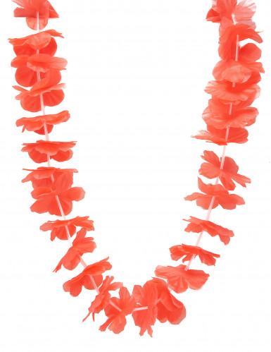 Collana hawaiana floreale rossa