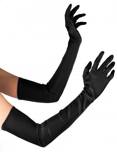 Guanti lunghi di colore nero