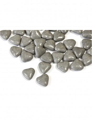 Mini confetti a forma di cuore colore grigio