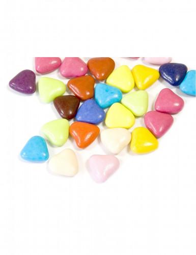 Confetti a forma di piccolo cuore in vari colori