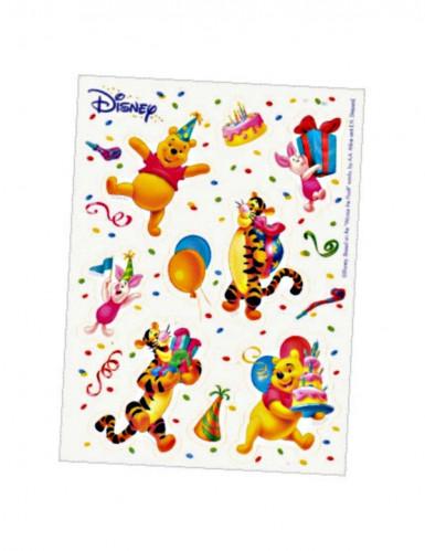 Foglio con 6 stickers colorati con Winnie the Pooh