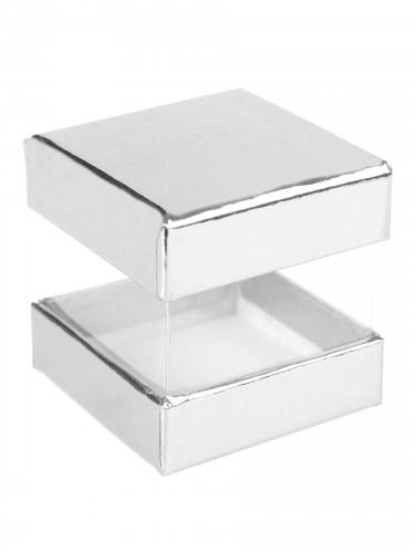 6 scatole cubiche di cartone color argento