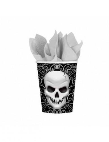 Bicchieri di cartone con teschio per Halloween