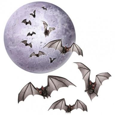 Addobbi Halloween luna e pipistrelli