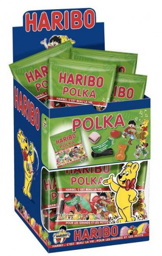 Mini sacchetto Haribo con caramelle Polka