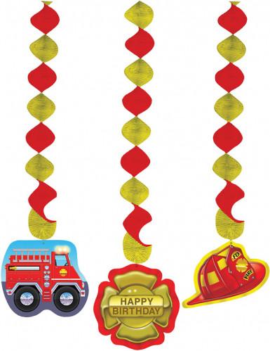 3 decorazioni da appendere Pompieri