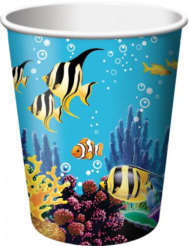 Set di 8 bicchieri di carta Oceano