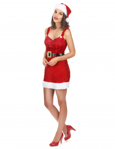 Costume da donna adulta mamma Natale sexy-1