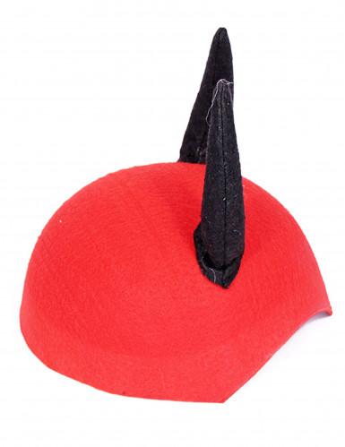 Cappello rosso e corna da diavolo-1