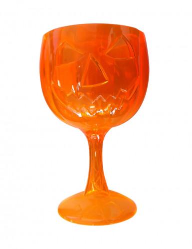 Bicchiere zucca Halloween arancione