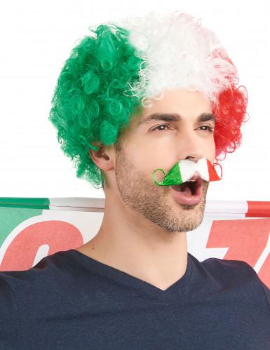 Parrucca riccia tricolore Italia