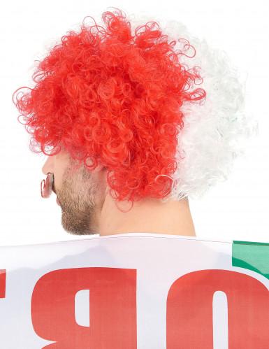 Parrucca riccia tricolore Italia-1