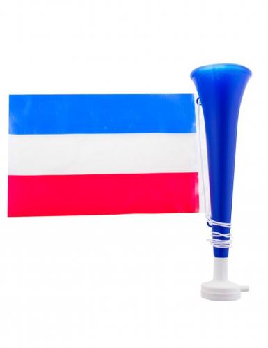 Trombetta da tifoso con bandiera francese