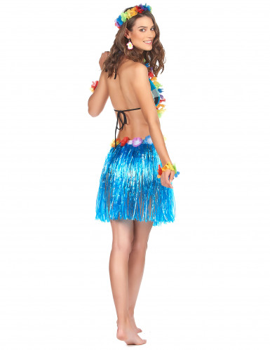 Gonna in stile hawaiano blue adulto-1