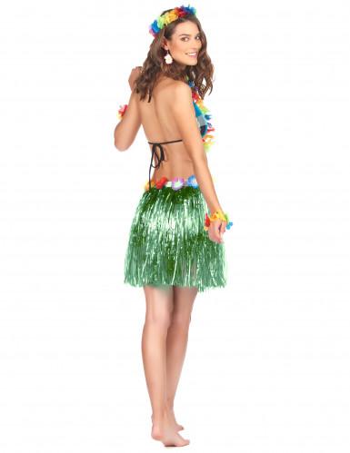 Gonna hawaiana corta verde per donna-1