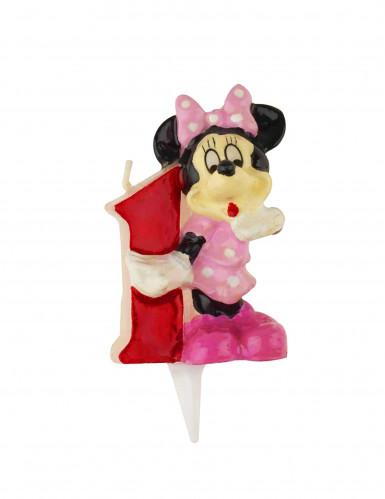 Candela Minnie™ di 6,5 cm. e numero 1