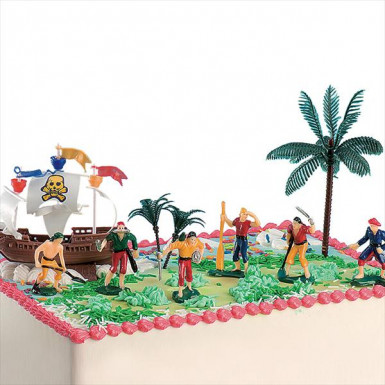 Statuine pirati in plastica per torte-1