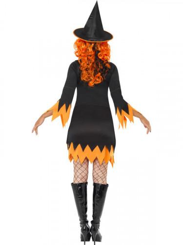 Travestimento da strega nero-arancione adulto-2