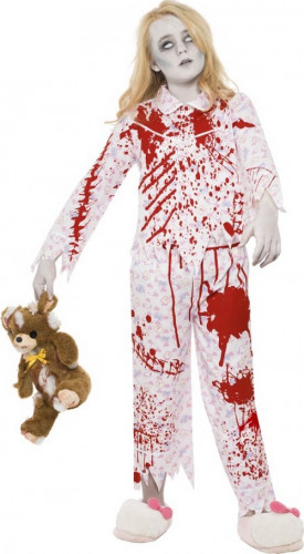 Costume da zombie pigiama bambina Halloween