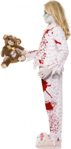 Costume da zombie pigiama bambina Halloween-1