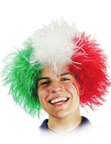 Parrucca tricolore Italia adulto