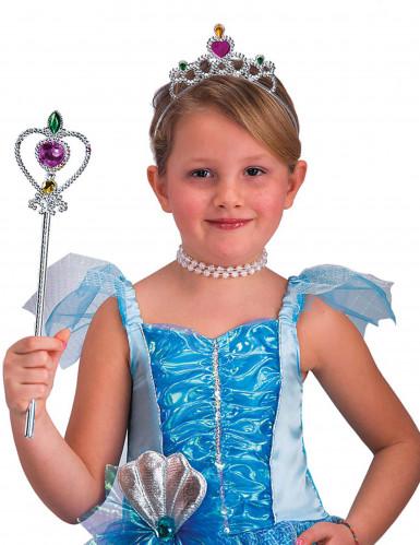 Set principessa color argento per bambina