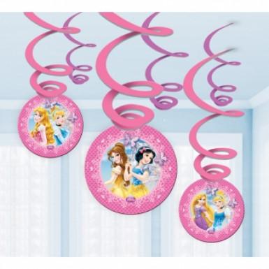 6 decorazioni da appendere con principesse Disney