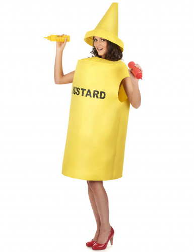 Costume adulti da barattolo di mostarda-1