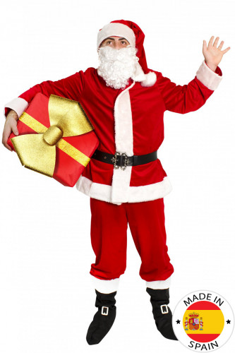 Costume rosso Babbo Natale deluxe