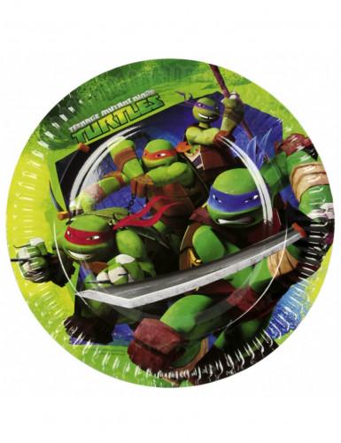 Pacco da 8 Piatti di carta delle Tartarughe Ninja™