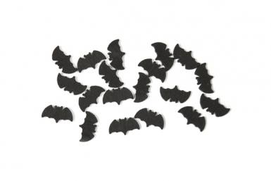 Coriandoli da tavola neri a forma di pipistrello