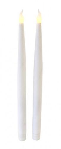 2 Candele a LED bianche con paillettes