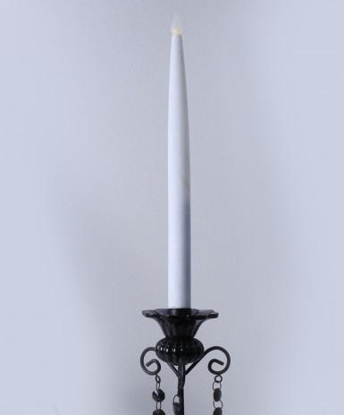 2 Candele a LED bianche con paillettes-1