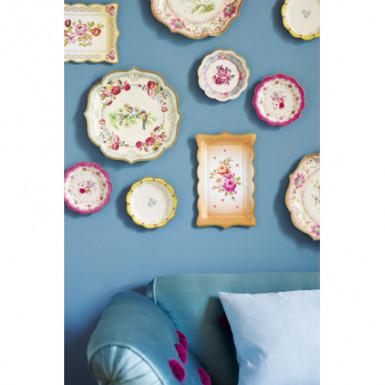 12 piattini in cartone tè tra amiche 17 cm-1