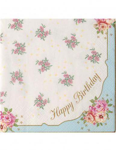 20 Tovaglioli di carta Buon Compleanno romantici