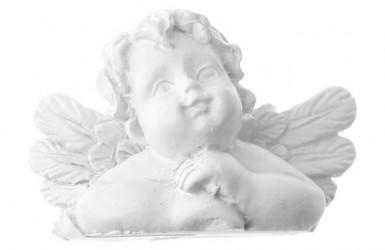 Lotto da 4 segnaposto angelo bianco argento