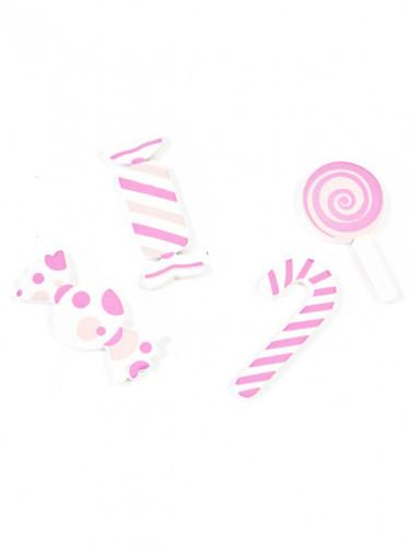 Caramelle rosa di legno per decorazioni-1
