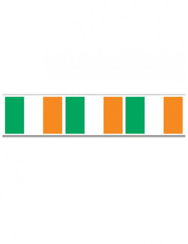 Ghirlanda San Patrizio con bandierine irlandesi