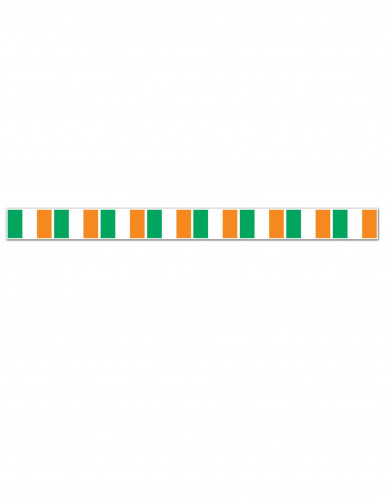 Ghirlanda San Patrizio con bandierine irlandesi-1