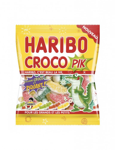 Sacchetto di caramelle Haribo coccodrillo Croco Pik