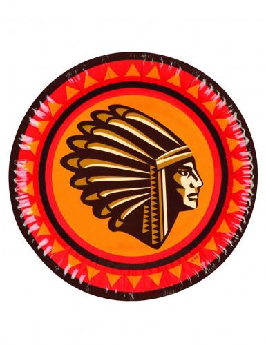 6 piatti in cartone indiani d'America
