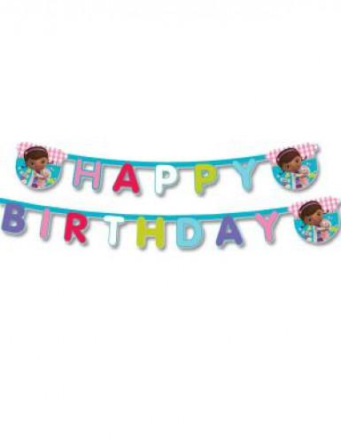 Ghirlanda Happy Birthday a tema Dottoressa Peluche™