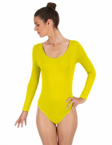 Body di colore giallo per adulti