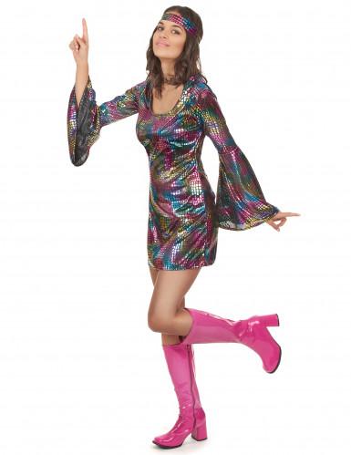 Costume da donna adulta discoteca anni '70-1