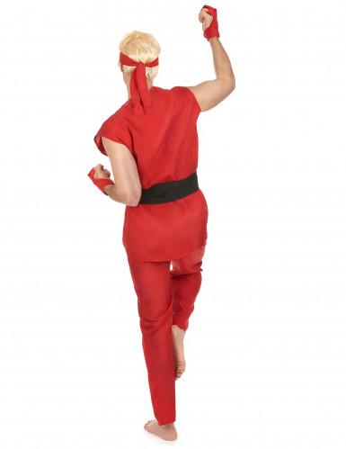 Costume rosso da guerriero di arti marziali per adulto-2