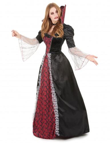 Costume vampira da donna tema Halloween-1