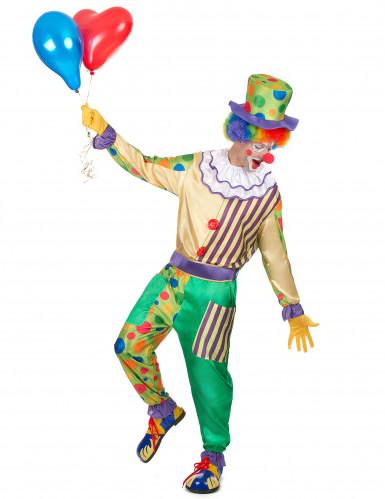 Costume da clown con pois per uomo-1