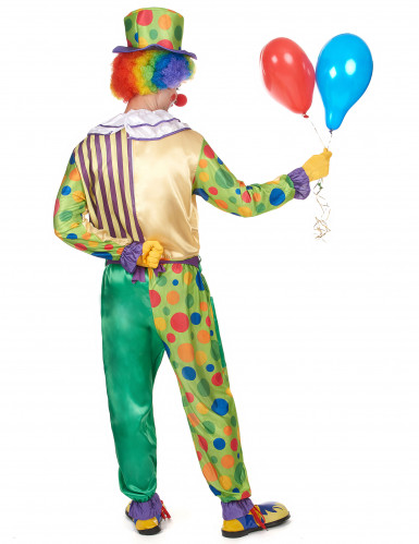 Costume da clown con pois per uomo-2
