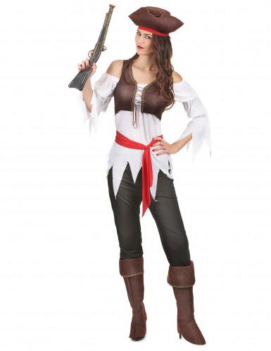 Costume da pirata con pantalone per donna